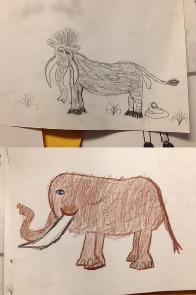 kid-art-mammoths